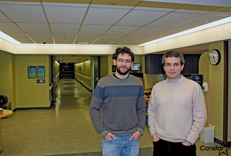 St. Amant is attracting some international talent with visiting Brazilian scholar Dr. Luiz Freitas (left) and new researcher Dr. Javier Ortega of Spain.
