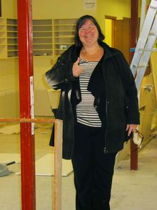 Nov. 20, 2013 - Joanne Kury, Headingley United Church minister, is pleased with the progress of repairs underway in the church's basement to repair damage caused by sewer back-up in October. (ANDREA GEARY/CANSTAR COMMUNITY NEWS)