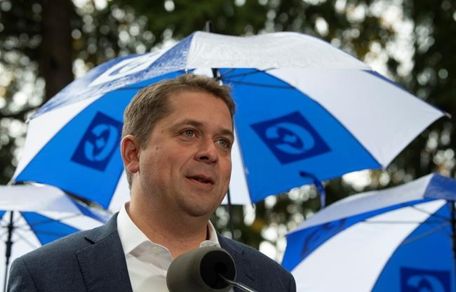 Conservative leader Andrew Scheer speaks during a campaign rally in Vancouver, Sunday October 20, 2019. THE CANADIAN PRESS/Adrian Wyld