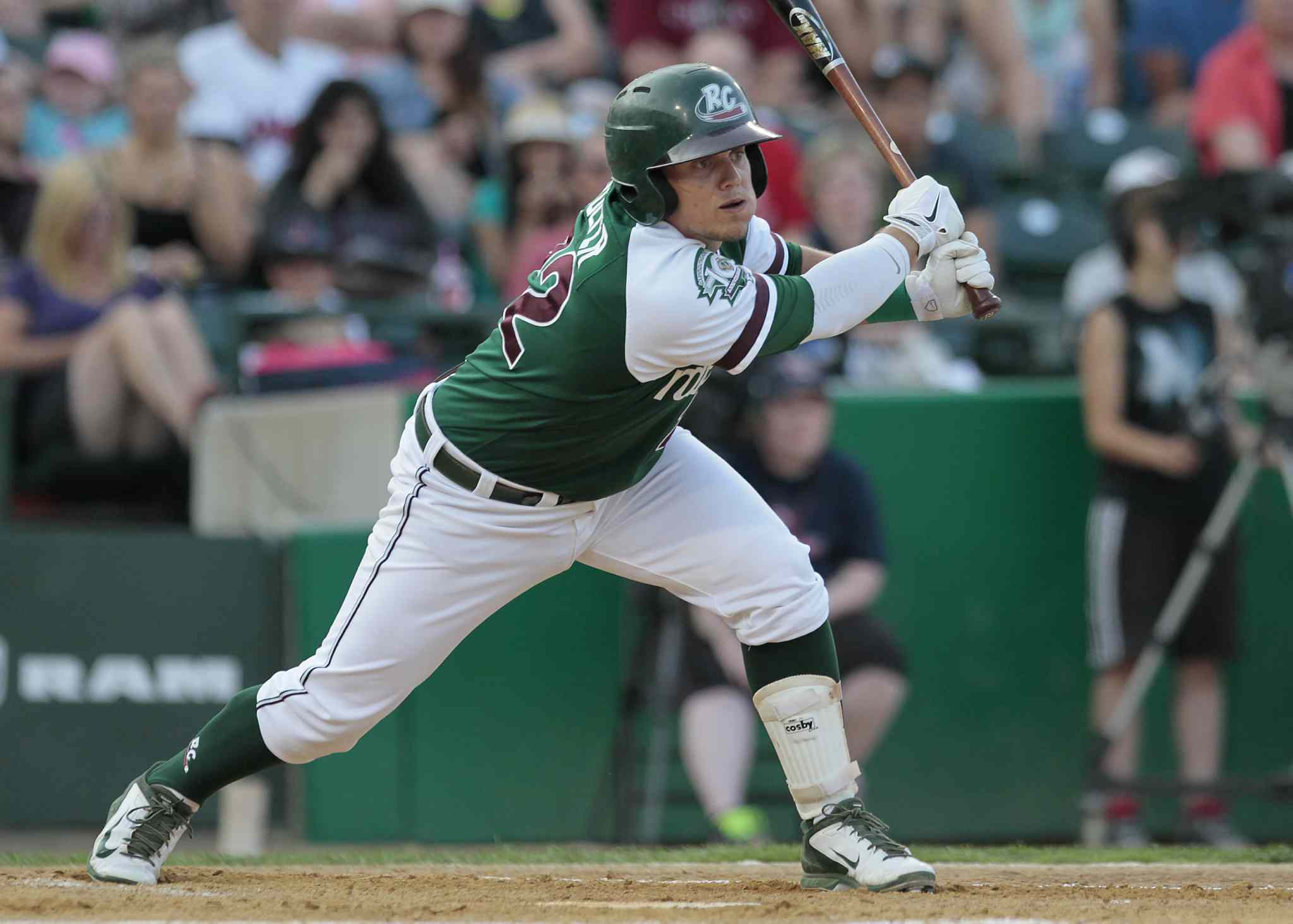 Gary SouthShore RailCats' Danny Pulfer hits in the 2014 American Association All-Star game in Winnipeg Tuesday.