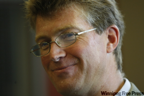 NDP cabinet minister Andrew Swan announces his intention to run for leader of the party in Manitoba. The leadership vote will take place on Oct. 17, 2009.