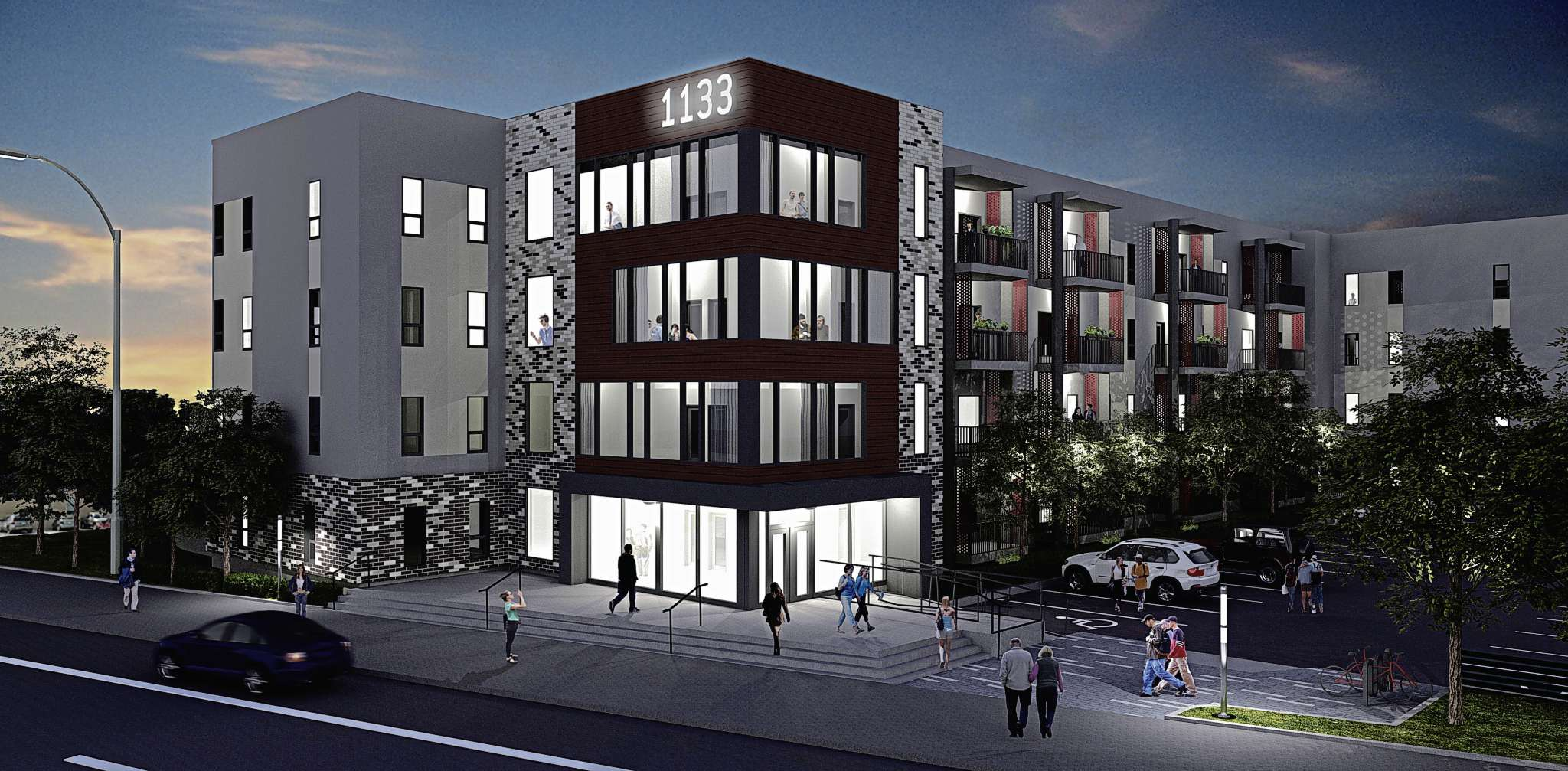 A 60-unit condo complex will begin construction at the site of the old Palomino Club in November.