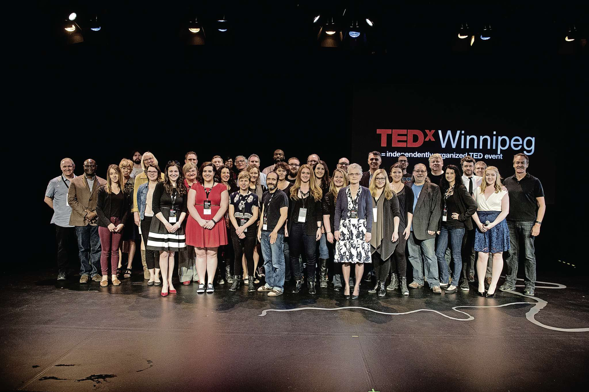 TEDx Winnipeg's 2016 presenters and crew. This year's event takes place on June 6.