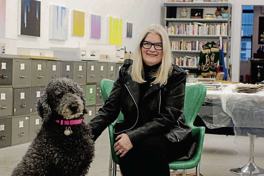 Visual artist Wanda Koop with her dog, Hubble. She will be receiving a Governor General's Award at the National Gallery of Canada on March 24.