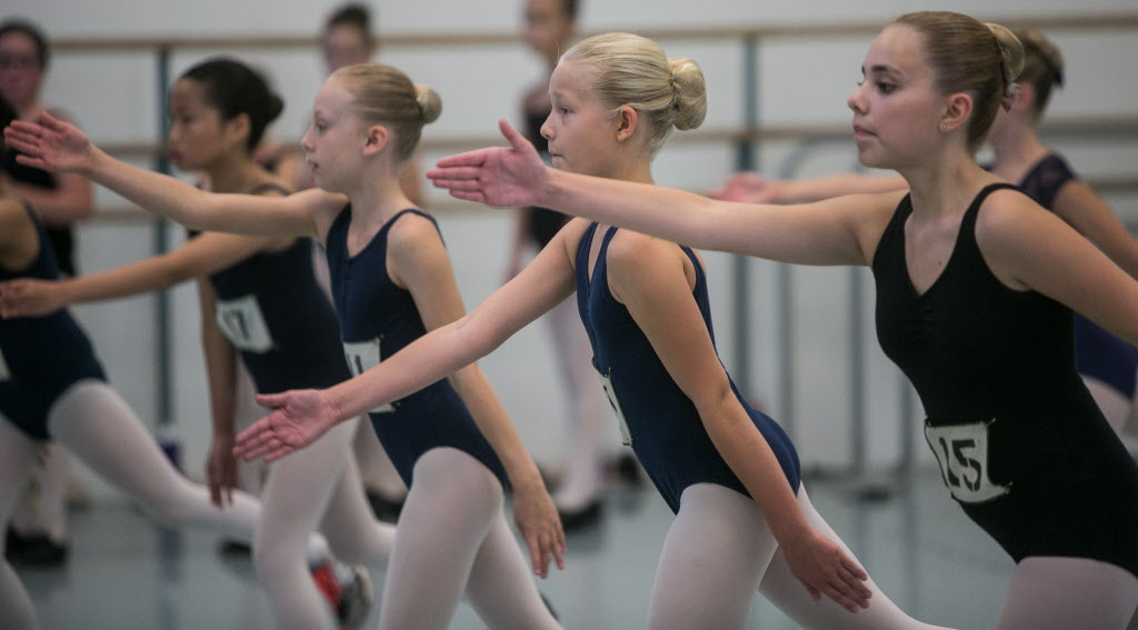 The Royal MTC spent Sunday auditioning members of the RWB School's recreational division to fill the roles of the Ballet Girls Ensemble for its upcoming production of Billy Elliot the Musical. MIKE DEAL / WINNIPEG FREE PRESS