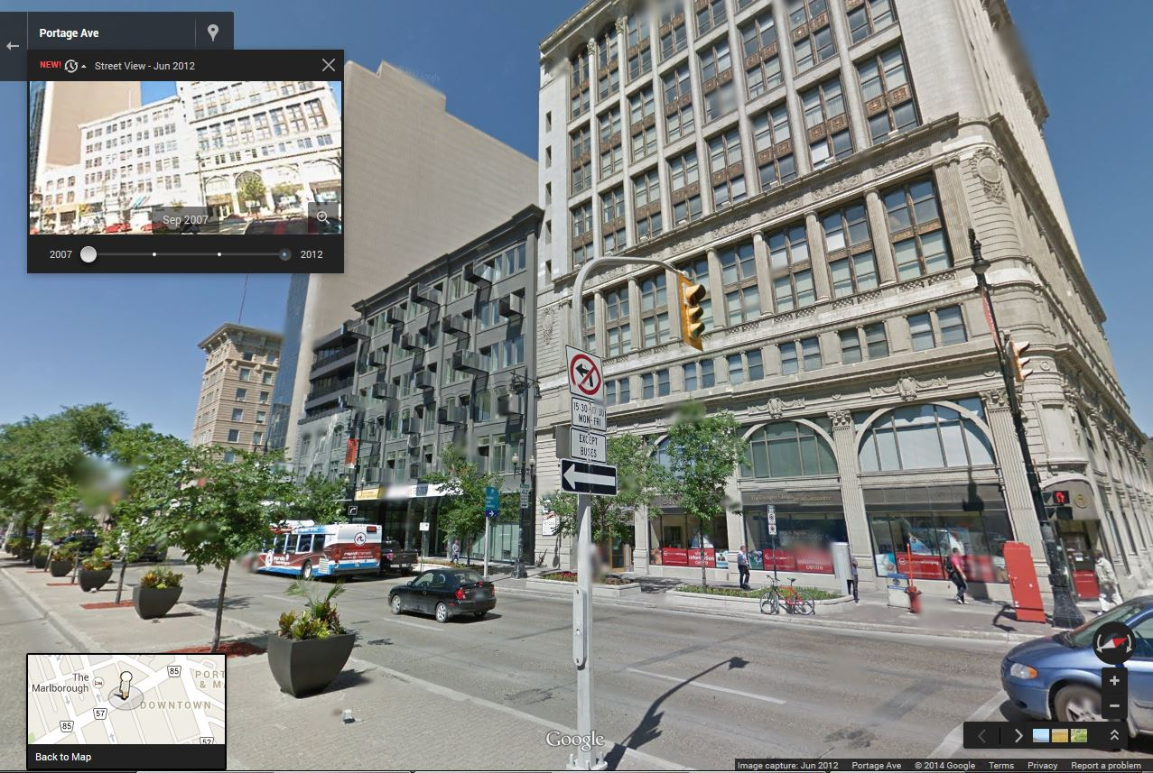 Condos on the site in 2012.  See it on Google Maps: wfp.to/mapavenue  (Google)