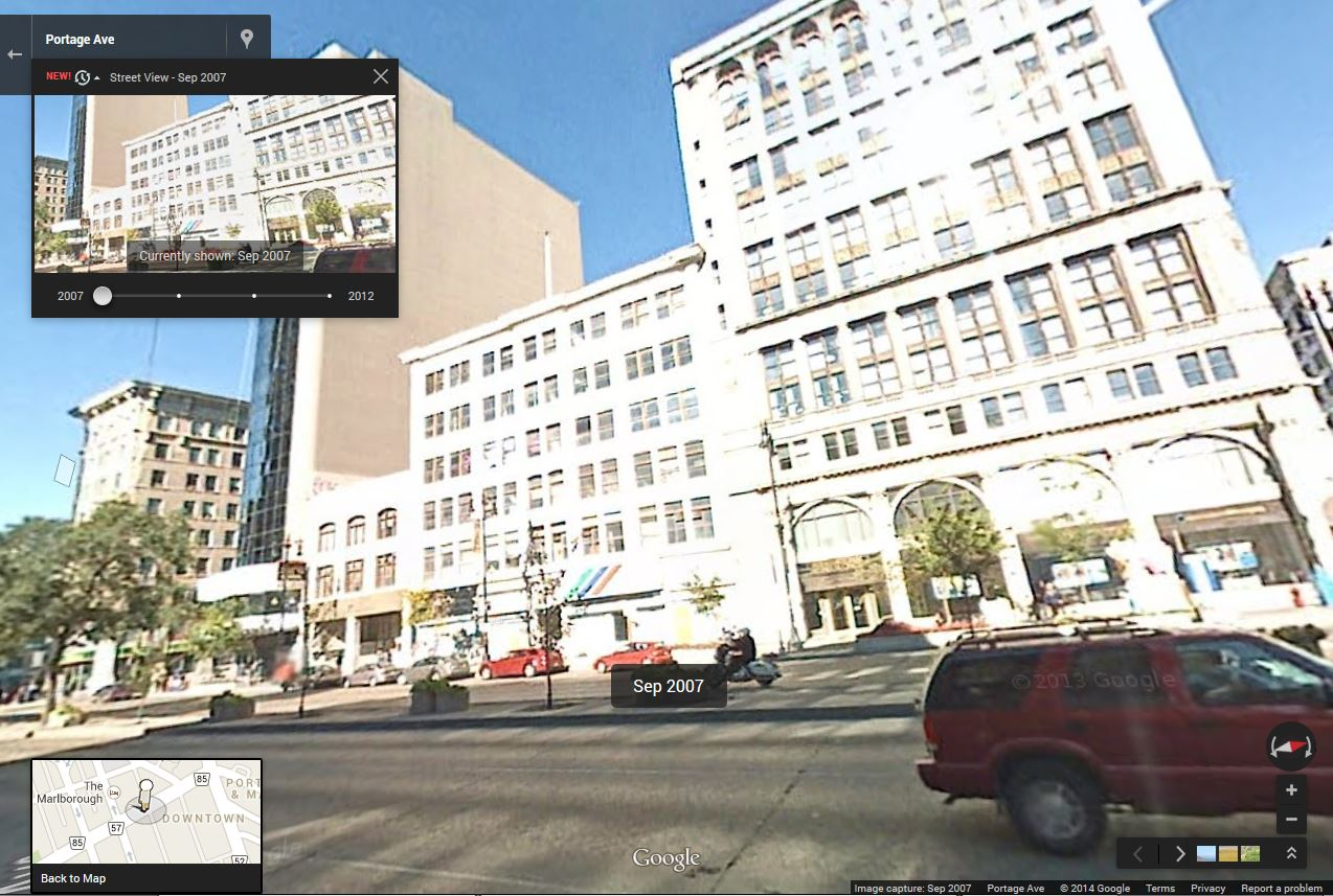 The Avenue Building on Portage Avenue in September 2007. (Google)