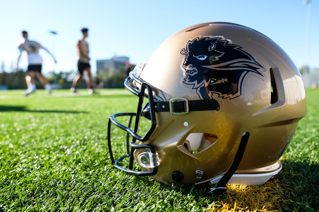 The Bisons have been holding informal twice-a-week workouts on campus for the last five weeks.