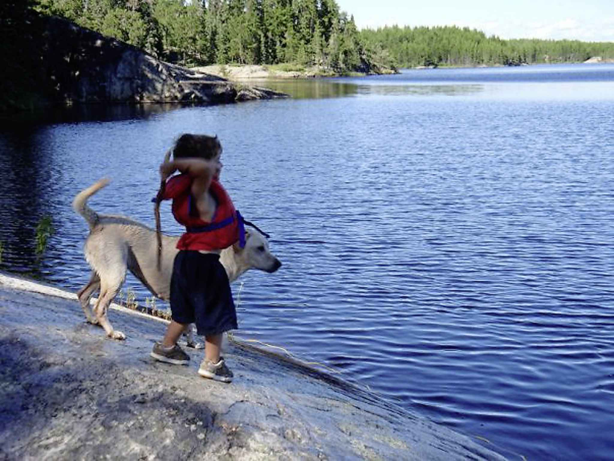 Ace Burpee associates Black Lake with his dad. (Jack Winram / Free Press files)