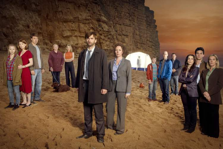 Broadchurch, a BBC import, has its North American première on Sunday, Aug. 4 on Showcase.
