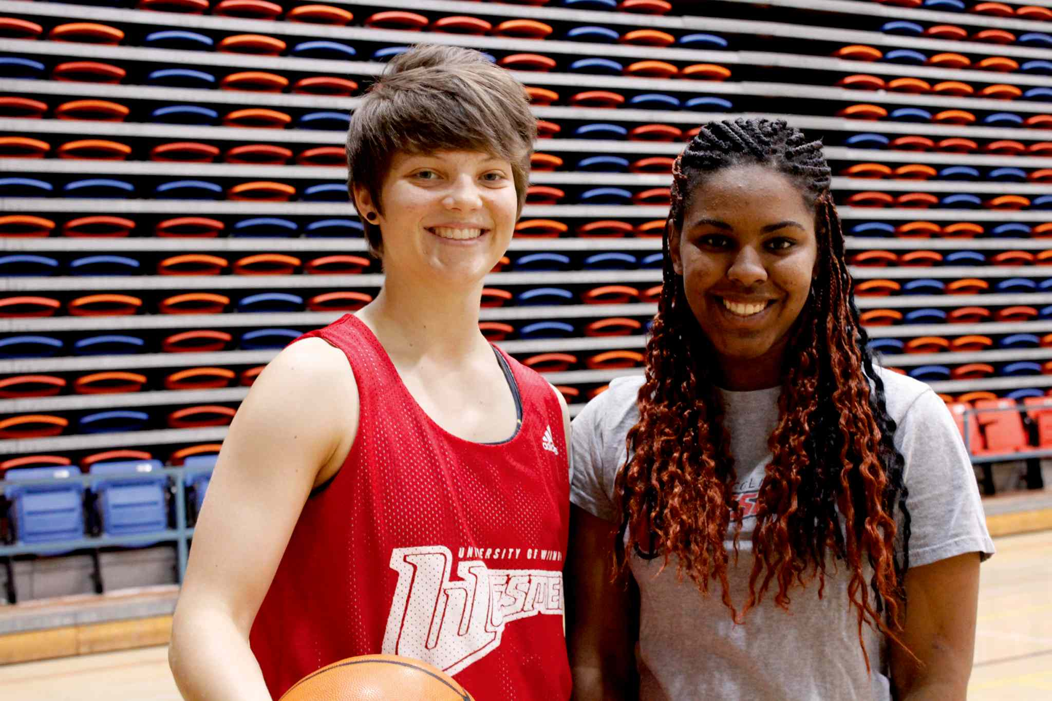 Kerri Kuzbyt (left) is one of the I Can Score coaches that instructed young basketball players like Kyla-Alexis Bailey (right) last year.
