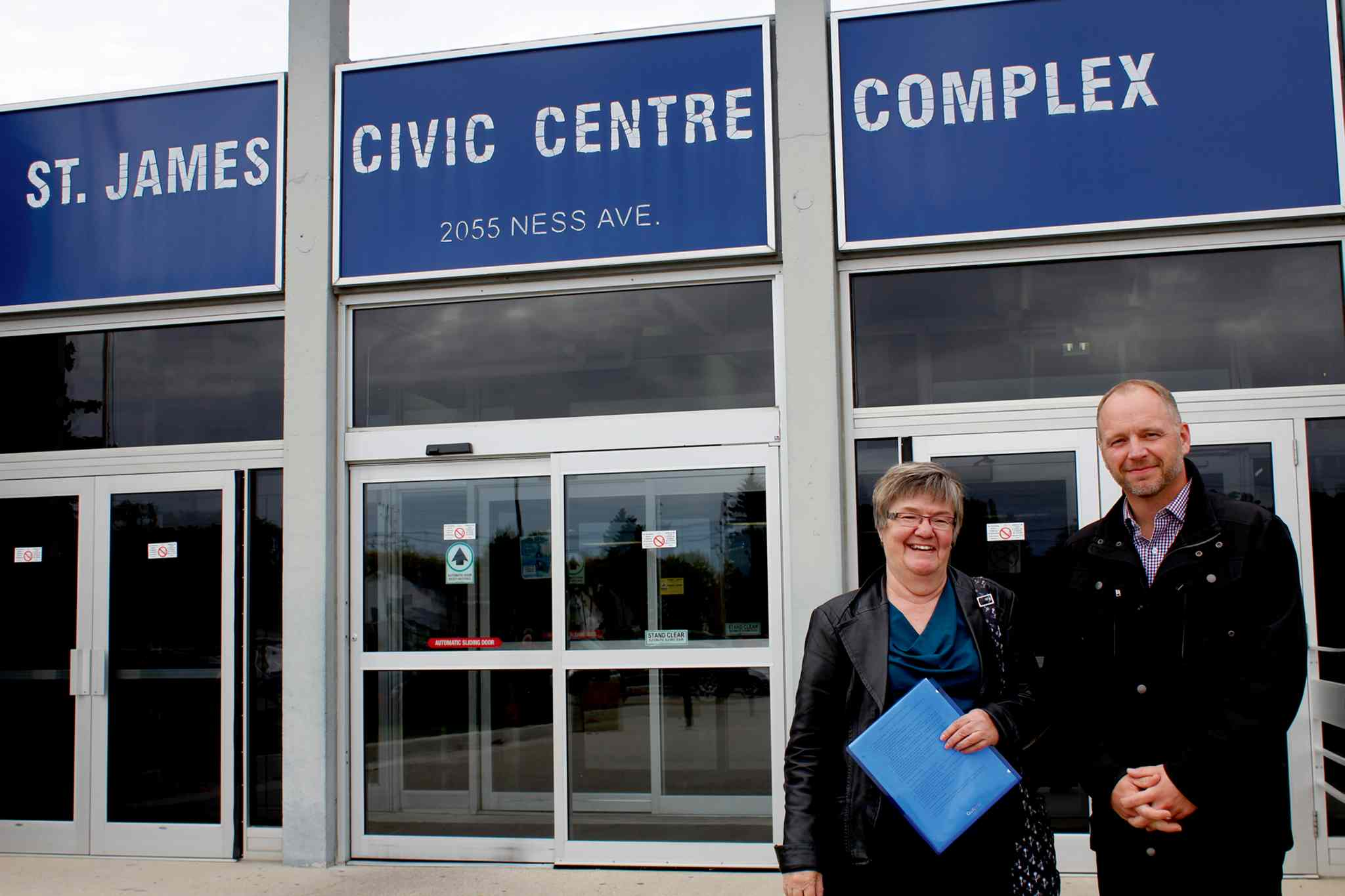 Connie Newman (left) and Scott Gillingham are working together to ensure renovations, upgrades and additions to the St. James Civic Centre Complex benefit not just senior citizens, but all members of the community.