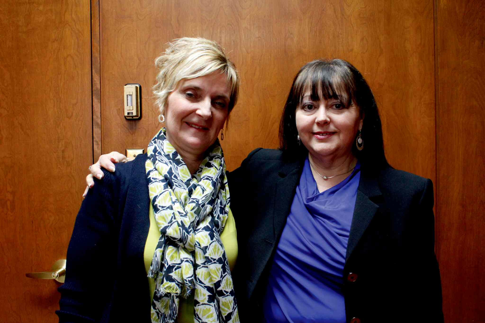 Luba Krosney (left) is leaving her position as principal at Lord Nelson School to become principal at Sargent Park School. Fatima Mota (right) had to leave her position as principal of Sargent Park School to become the Winnipeg School Division's superintendent of north district schools.