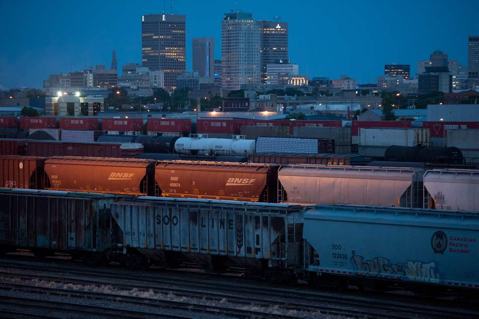 CP Rail Yards. July 3, 2012. (COLE BREILAND / WINNIPEG FREE PRESS)