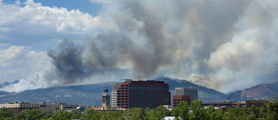 The Waldo Canyon fire burns in the mountains west of Colorado Springs, Colorado, Tuesday, June 26, 2012. (Mark Reis/Colorado Springs Gazette/MCT)