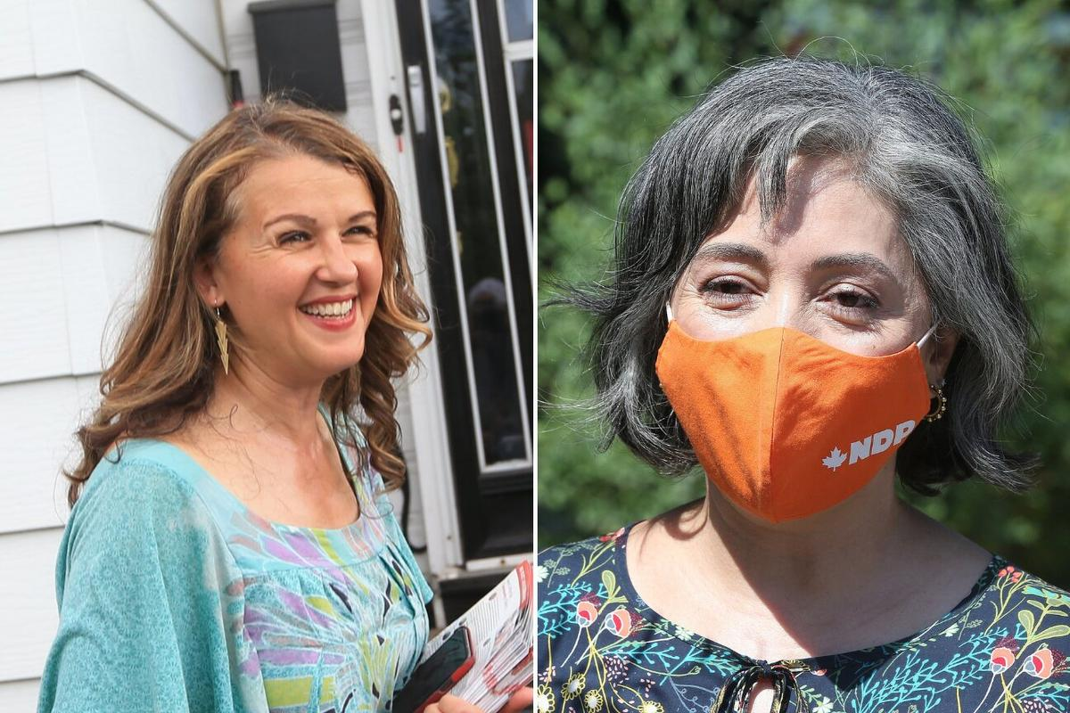 Left: Julie Dzerowicz is the Liberal candidate in the riding of Davenport. Right: Alejandra Bravo is the NDP candidate in the riding of Davenport.
