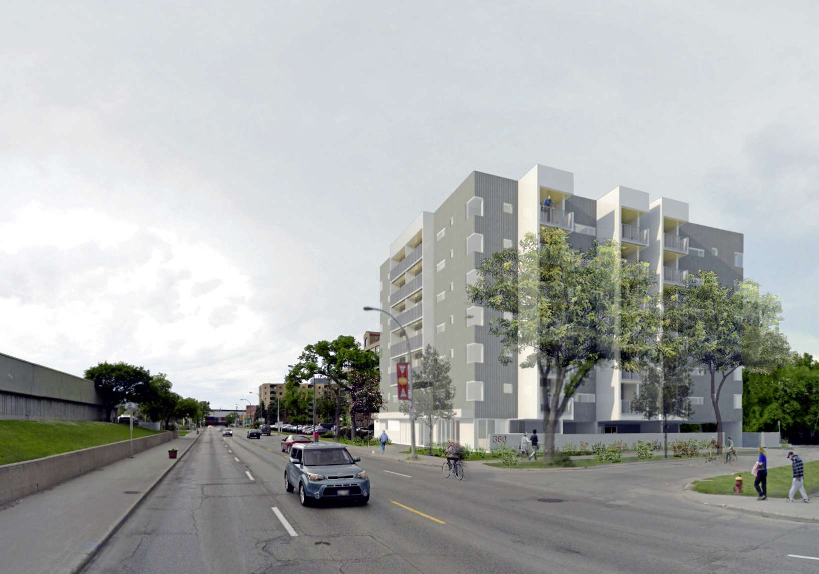 Variances and a rezoning for a proposed 71 unit apartment complex at 380 Osborne St. were approved by City Centre community committee on Jan. 9.
