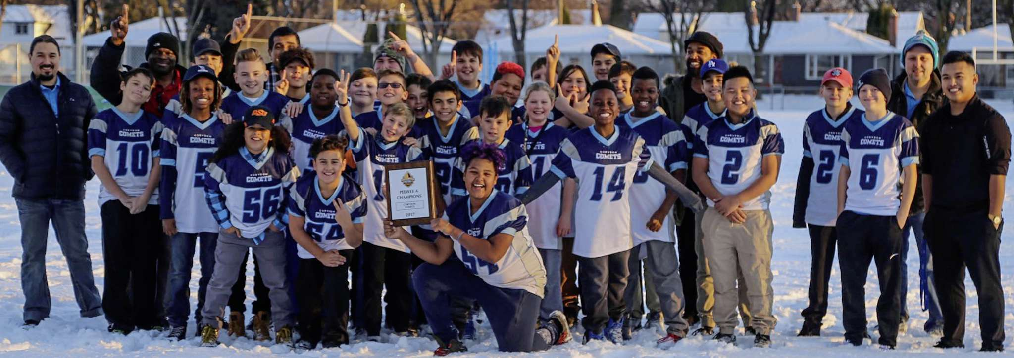 The Corydon Comets won the Manitoba Minor Football Association peewee A division championship on Oct. 29.