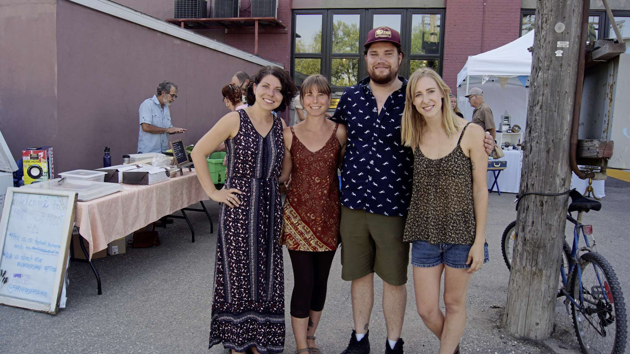 South Osborne is home to a new farmers' market on Wednesday evenings from 4 to 8 p.m. Organizers of the South Osborne Farmers' Market from left: Leanne Dunne, Kelly Janz, Reuben Van Gaalen, and Katie Daman.