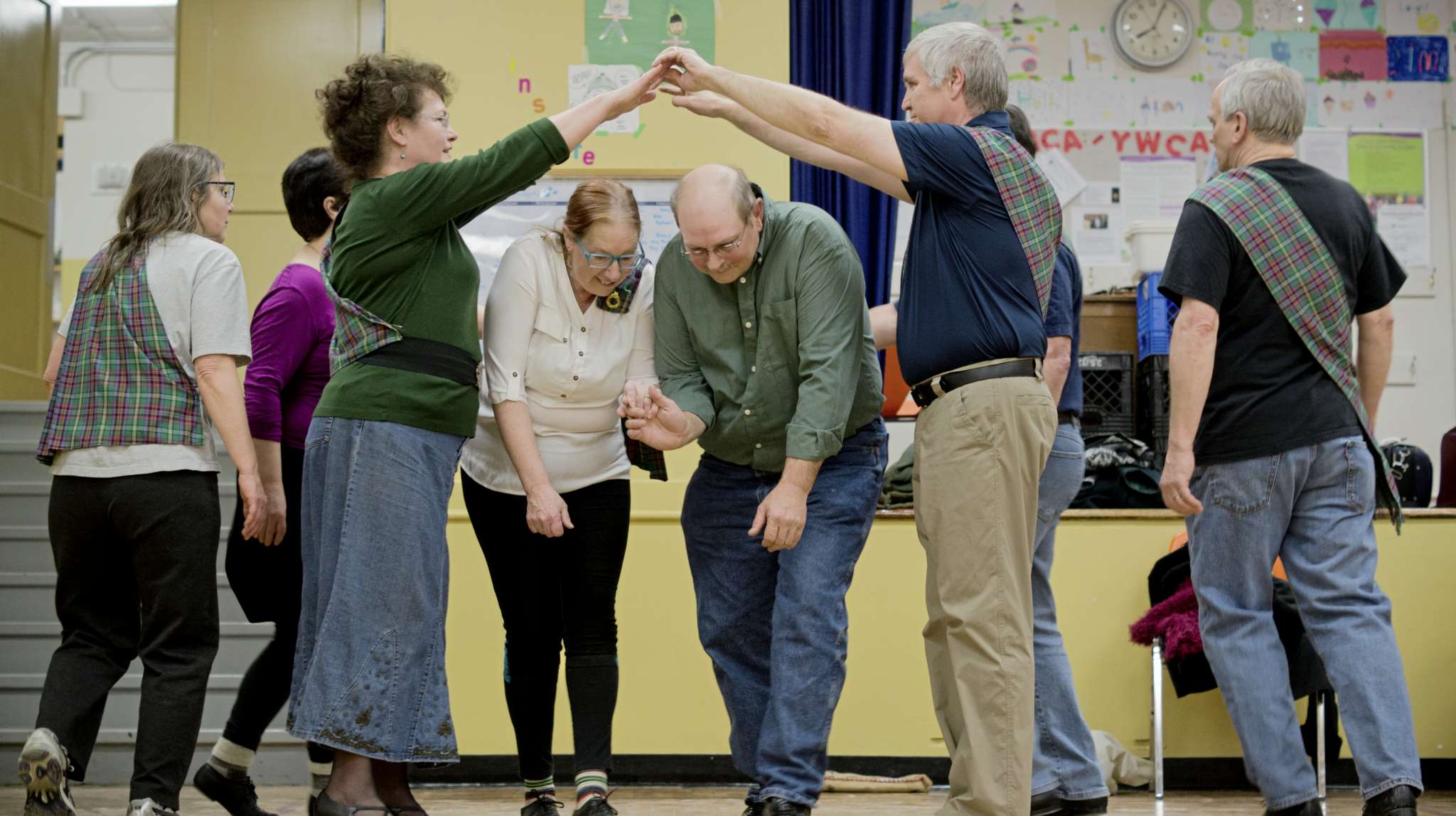 The Comhaltas Winnipeg Irish Setdancing Group meets each Monday at École Riverview School to practise traditional Irish folk dances and socialize.