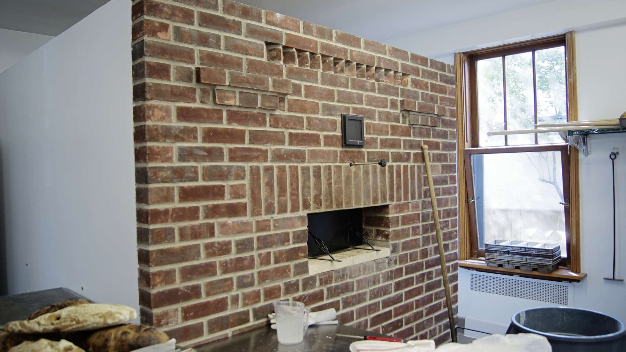 This wood fired brick oven gives The Pennyloaf Bakery its charm.