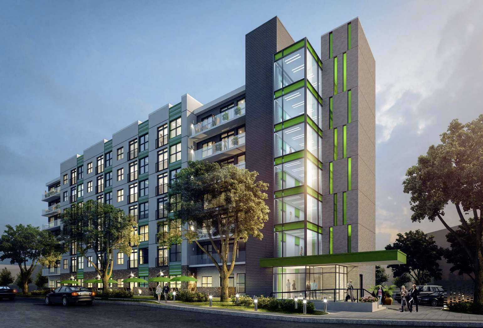 Artist rendering of the proposed seven-storey residential development on Roslyn Road.