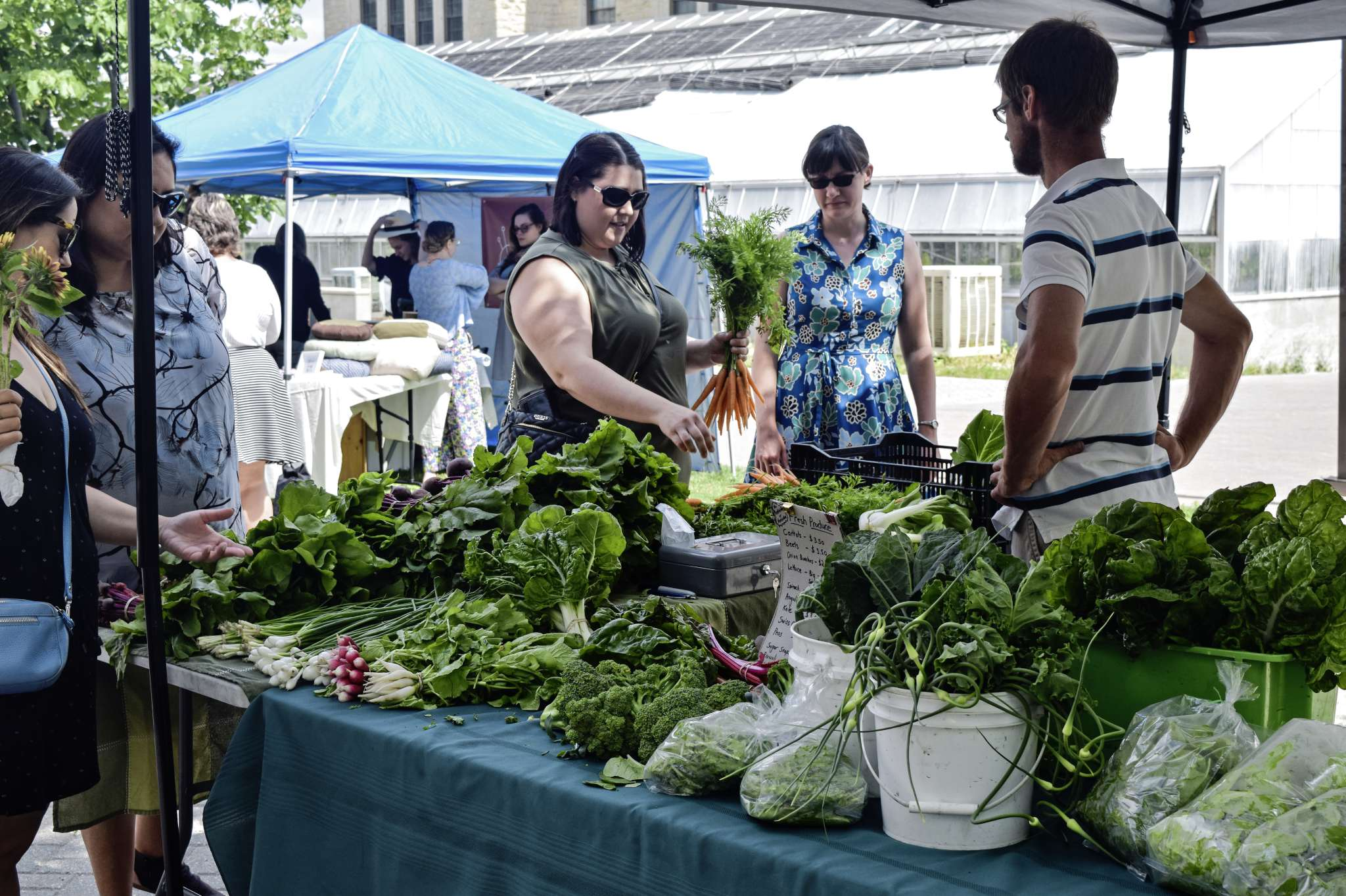 The University of Manitoba's Office of Sustainability has launched a biweekly farmers' market on campus. It runs Tuesdays from 10 a.m. to 3 p.m. The next market date is July 30.