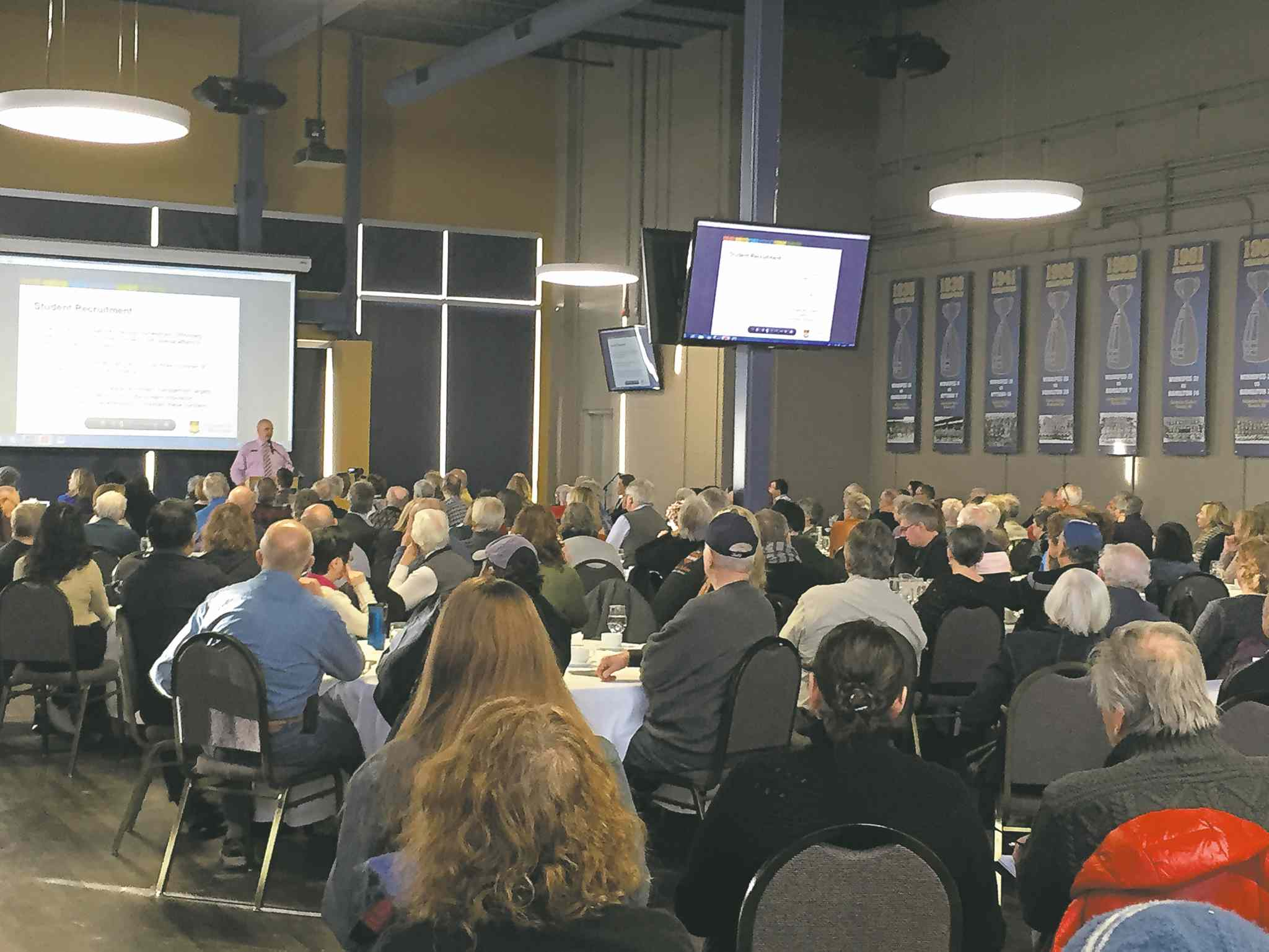 Approximately 200 people from the Fort Richmond area attended a community conversation on rental housing around the University of Manitoba on Jan. 31.