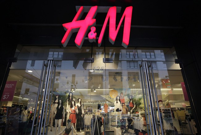 An H&M store is shown in New York, Friday, May 31, 2013. THE CANADIAN PRESS/AP, Mark Lennihan