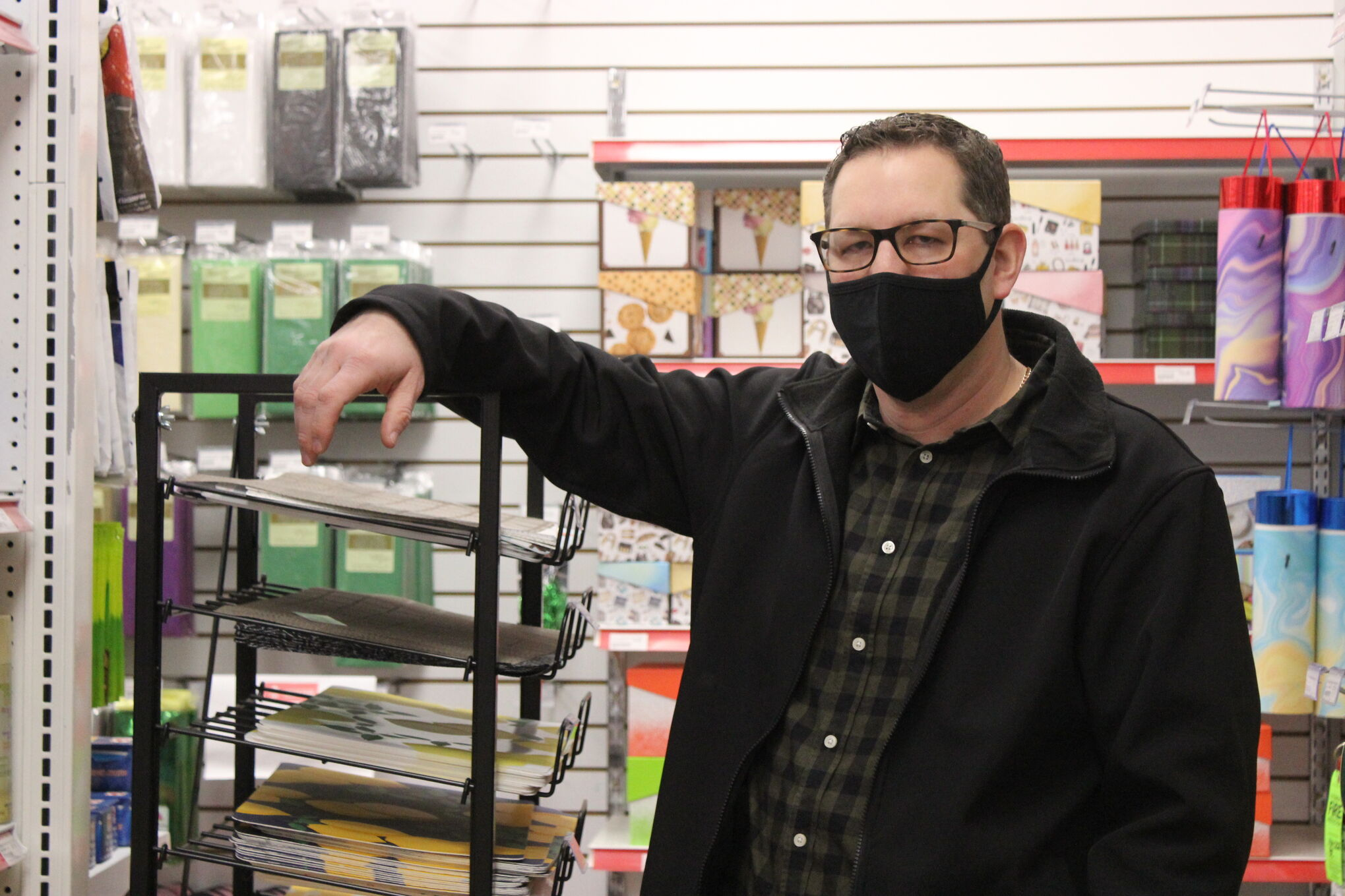 """Travis Neufeld, owner of Great Canadian Dollar Store in Steinbach and Niverville, says the breakdown of the thousands of retail items sold in Manitoba as """"essential"""" or """"non-essential"""" is excessive, confounds business owners, and impedes sales. He said $5,000 fines and the lack of an appeal method are disproportionately harsh compared to how vague the essential items list is for inspectors, which give him mixed messages."""