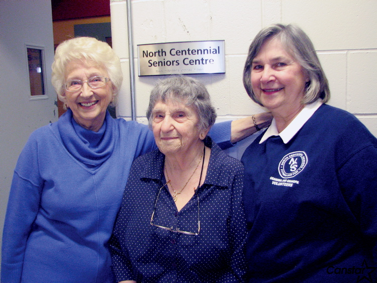 """North Centennial Seniors Association president Bernice Feledechuk (from left), member Edith Landy and Barbara Morris, co-ordinator for the association's """"Grandma and Grandpa Day Care Water Orientation Progam,"""" which celebrates its 30th anniversary this year."""