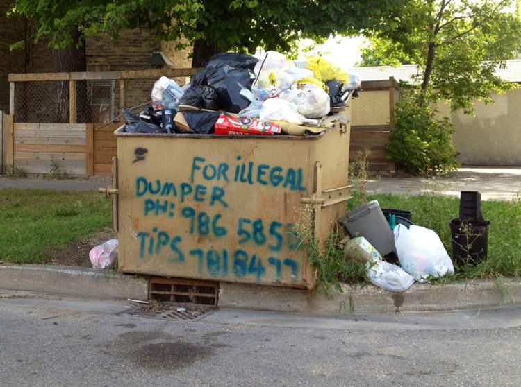 Taking extreme measures to stop illegal dumping in Winnipeg. (Boris Minkevich / Winnipeg Free Press)