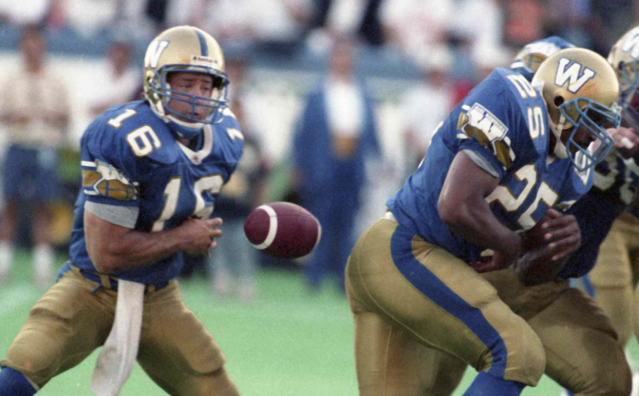 Matt Dunigan, No. 16 in the July 14, 1994 game