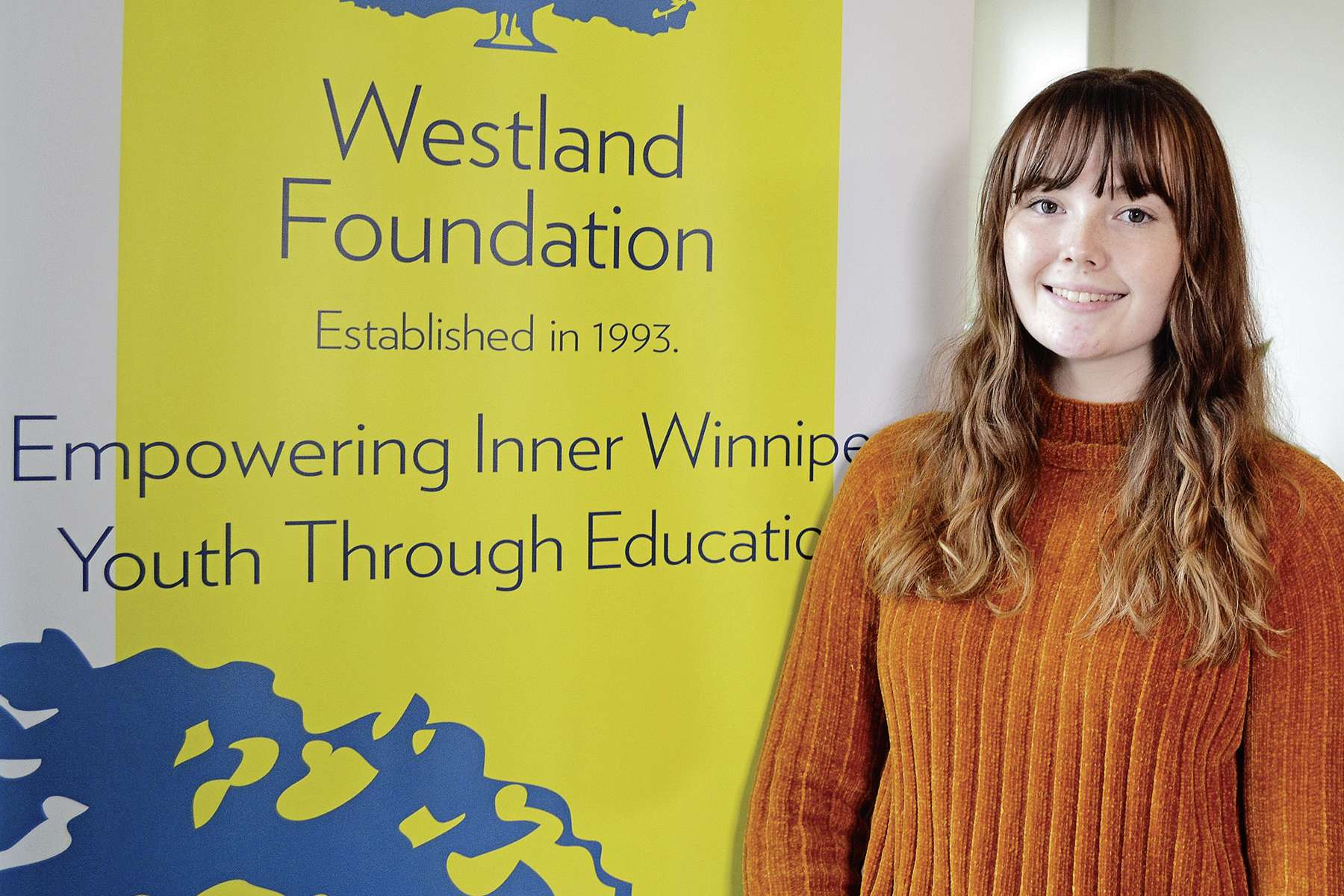 Morgan Neault, 19, earned a scholarship through Westland Foundation that will help support her through an education degree from The University of Winnipeg.
