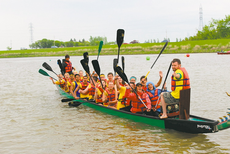 Paddlers from Garden City Collegiate were winners at the Manitoba School Dragon Boat Challenge in June.