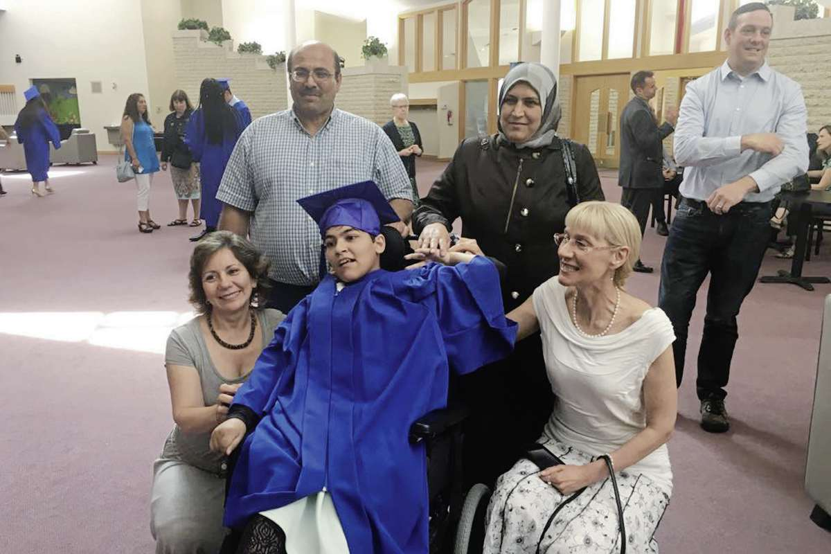 Rasha Kazmouz, 21, lives with cerebral palsy and, after working with the Society for Manitobans with Disabilities' Ethno-Cultural Program, was able to realize a dream: attending a public school.