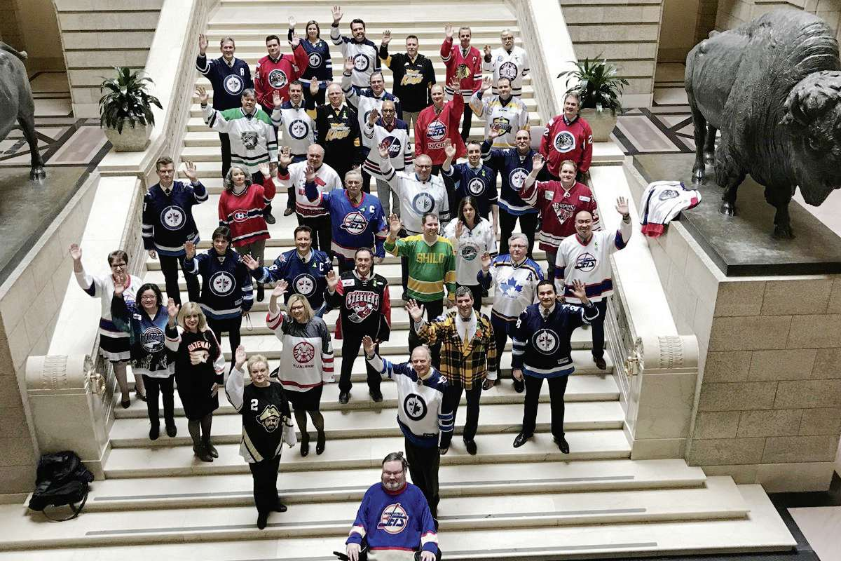 MLAs in the Manitoba legislature disregarded the usual dress code on April 12 to take part in #JerseysforHumboldt, donning jerseys to support the Humboldt Broncos and their community following a tragic collision April 6 which killed 16 players and staff and injured 13 others.