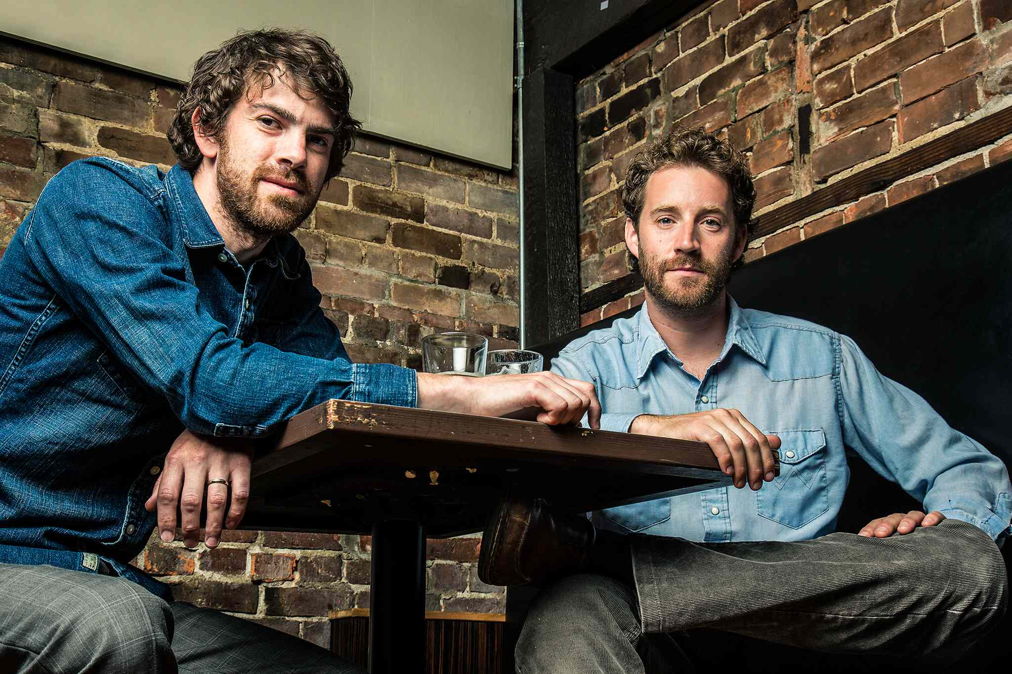 Matthew (The Axe Murderer) Rogers, left, and Shawn (The Harpoonist) Hallplay at the Park Theatre on Oct. 23, 2013.