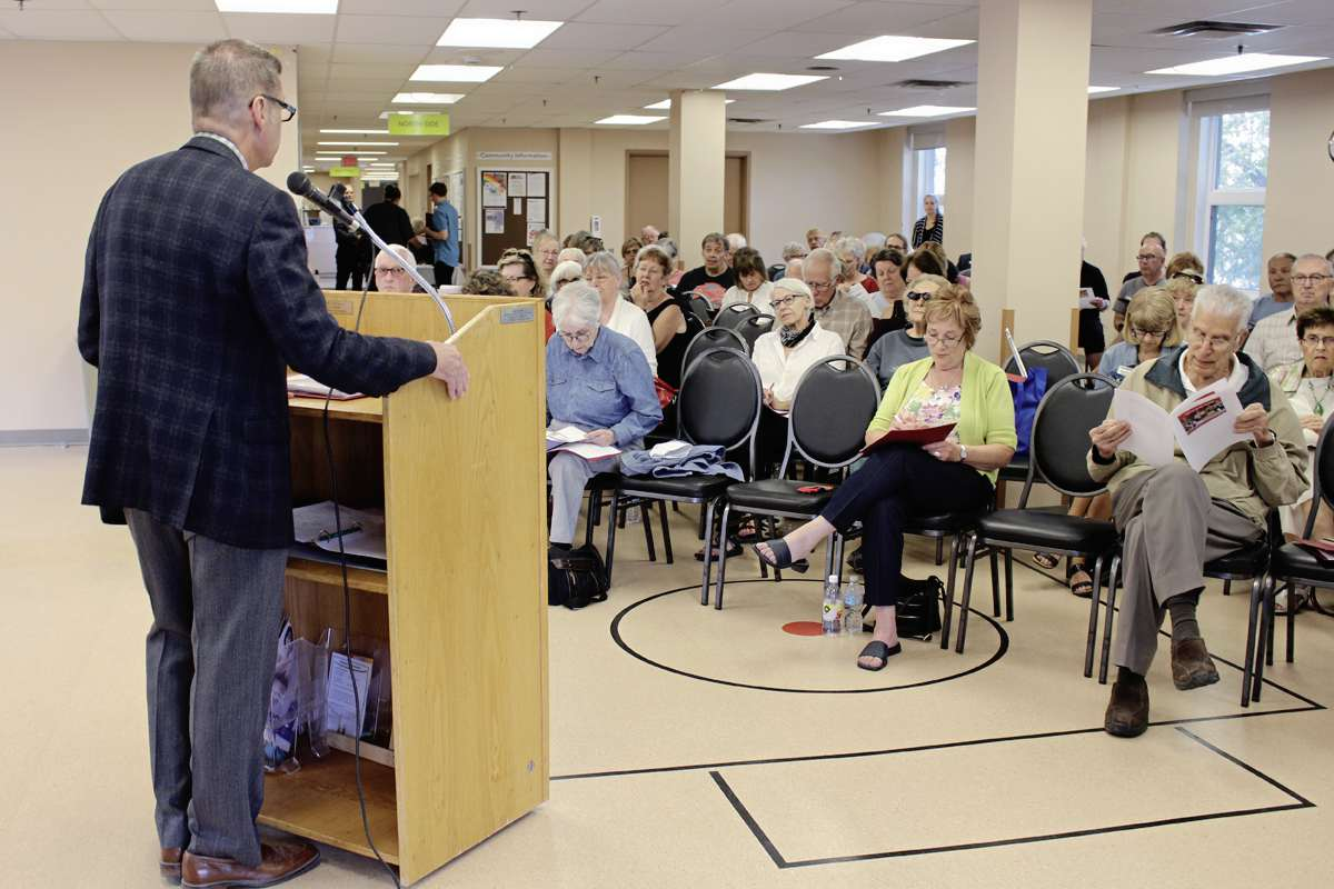 MP Doug Eyolfson held a consultation on a national senior's strategy at the St. James-Assiniboia 55+ Centre in August last year.