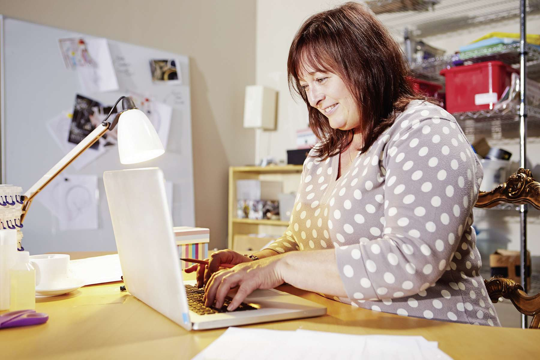Many peopole start home-based businesses to further their hobbies or to continue working while in retirement.