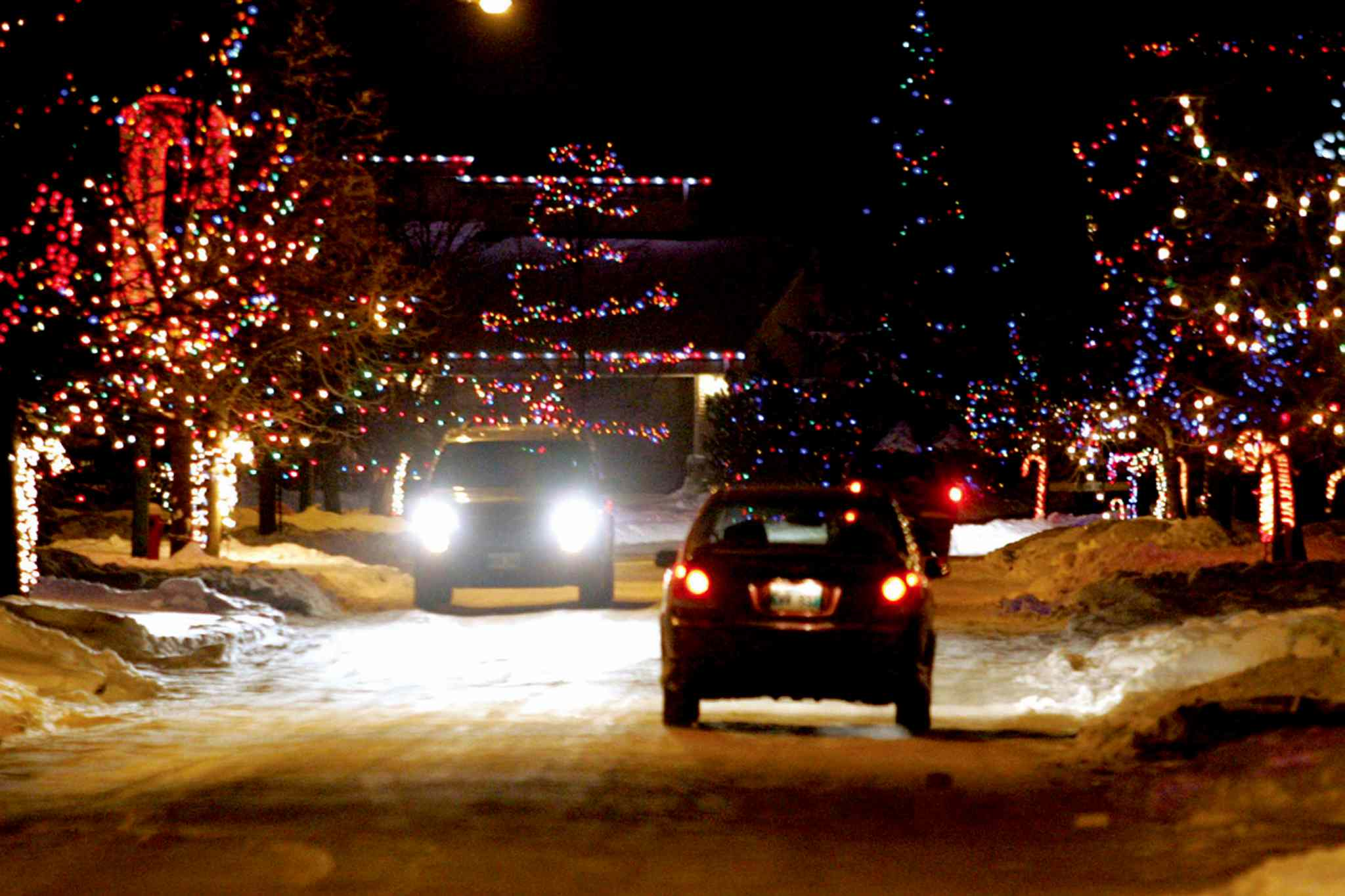 """Candy Cane Lane"" in Linden Woods (pictured above in a file photo) has been brightening up the neighbourhood for years."