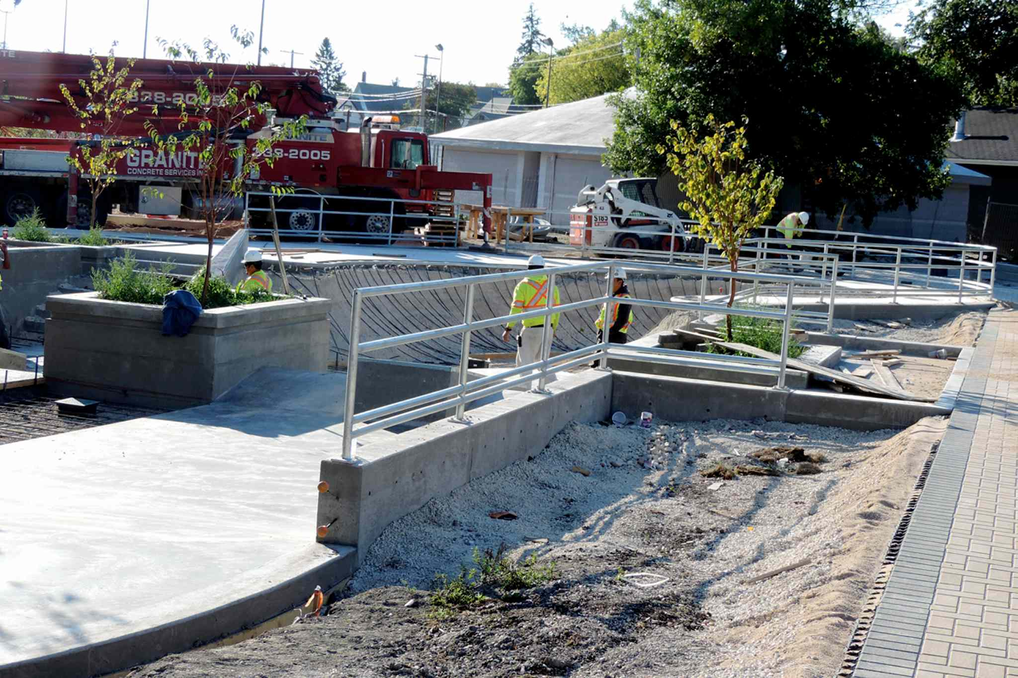Construction is underway at the Clara Hughes recreational site.