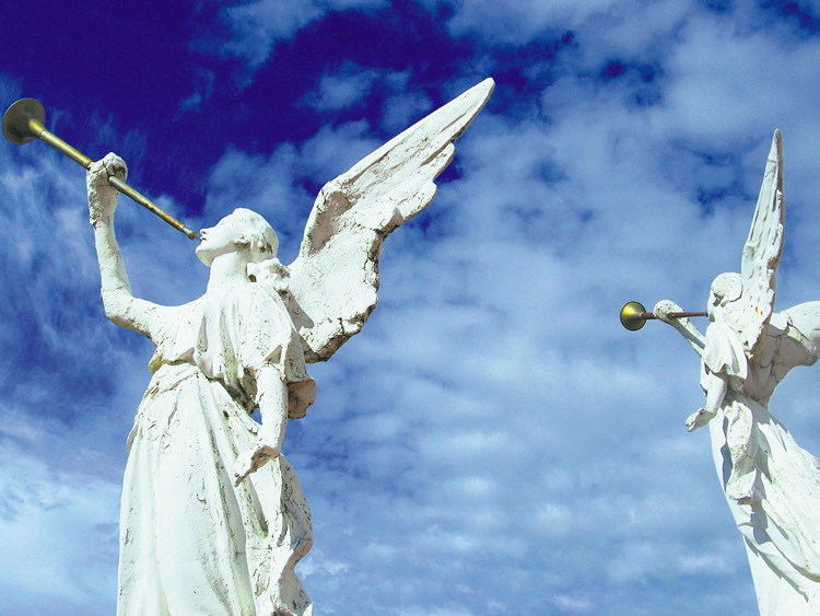 Angels at the Immaculate Conception Ukrainian Catholic Church at Cooks Creek, Manitoba.
