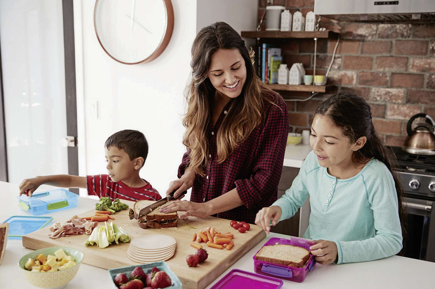 As your kids are learning at school, they can also learn the basics of good nutrition through what you choose to feed them at home and in their school lunches.