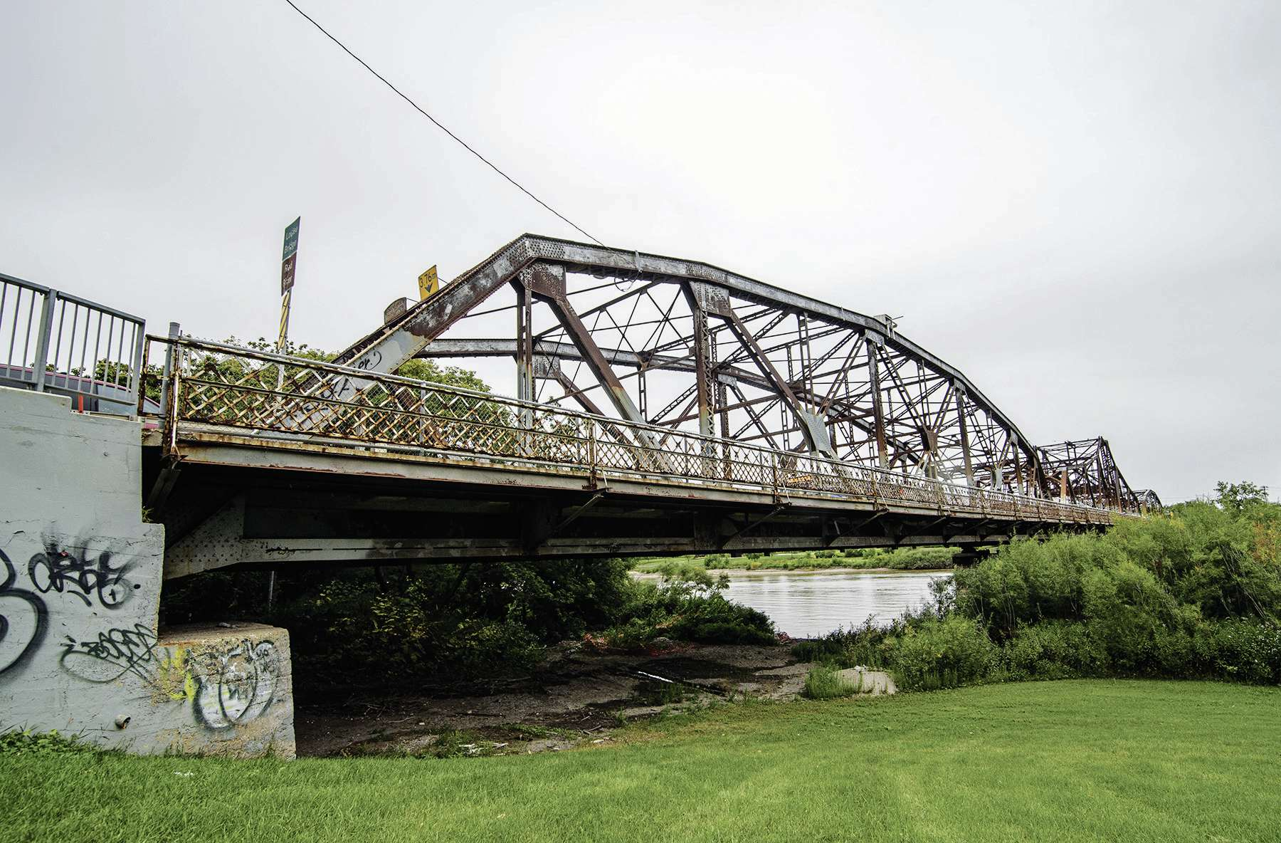 The building of the original Louise Bridge in 1880 (present-day version is pictured) helped facilitate the settlement of what was to become Elmwood.
