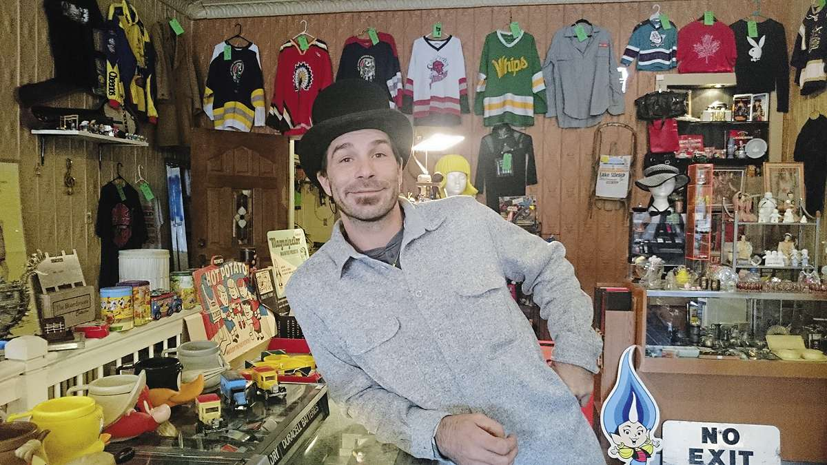 Justin Tyme is one of the owners of AJ's Collectibles and More, at 220 Henderson Hwy.
