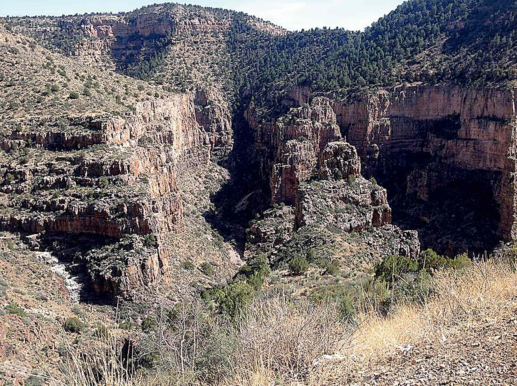 The majestic scenery of the Salt River Canyon was especially impressive for a Prairie girl.