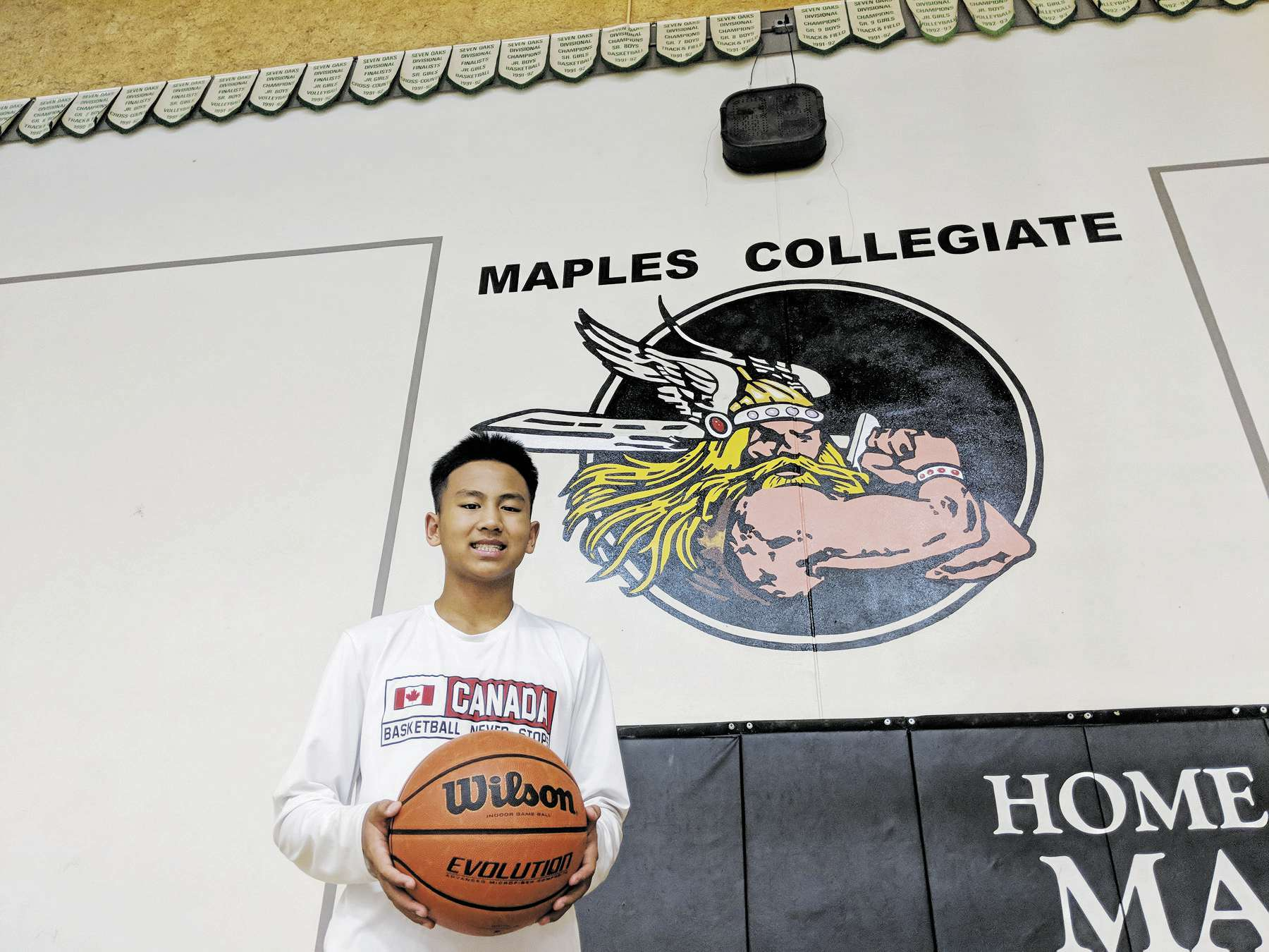At just 14 years old, Maples Collegiate student Mekhi Lasin is one of Manitoba basketball's brightest prospects.