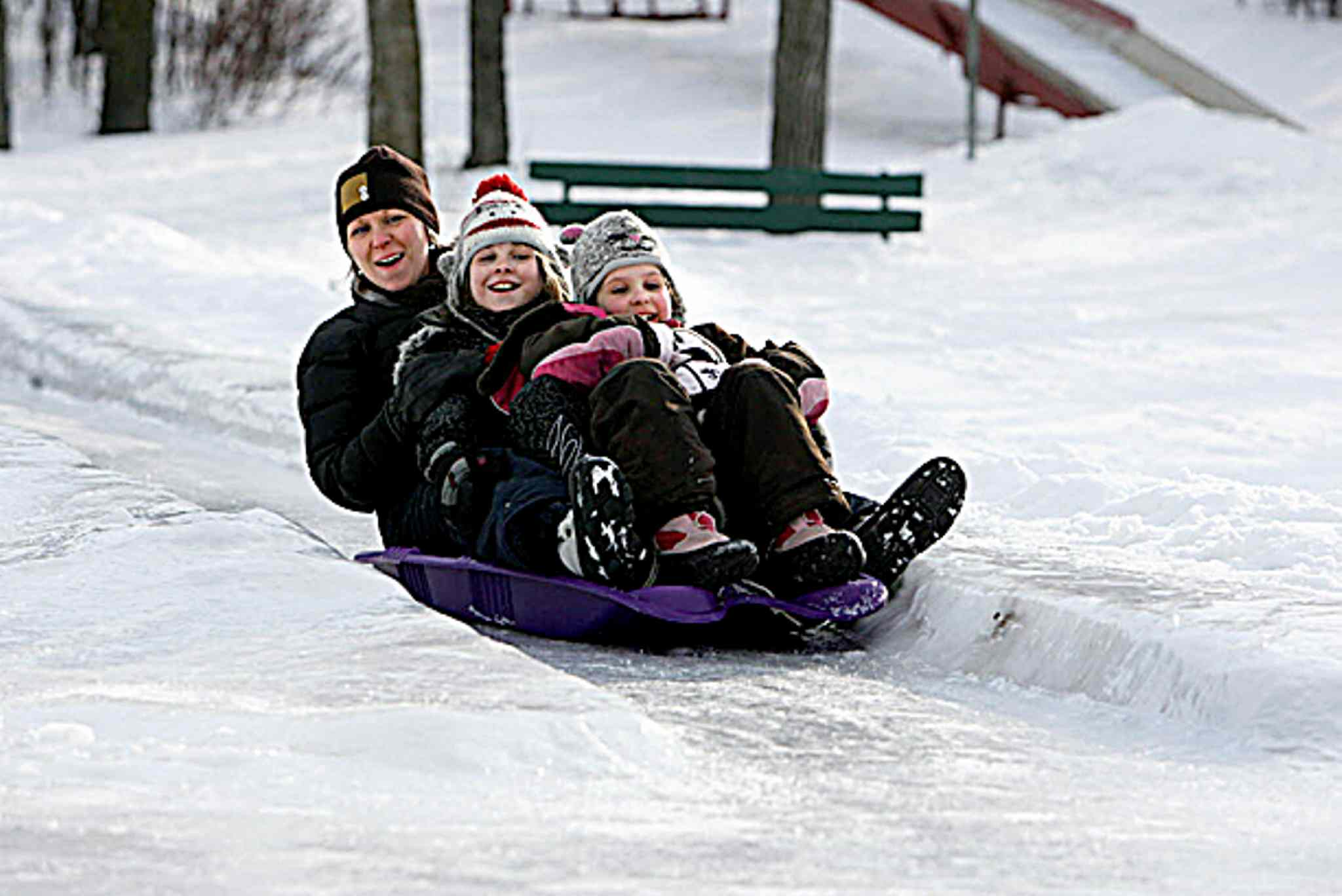 Enjoying the toboggan slides at Assiniboine Park, pictured in this file photo, is a great way to beat the winter blahs.