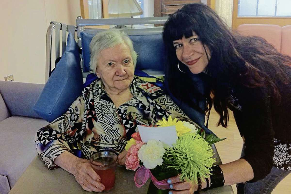 Community correspondent Janine LeGal, at right, pictured with her mother. (SUPPLIED/JANINE LEGAL/SOUWESTER/CANSTAR)